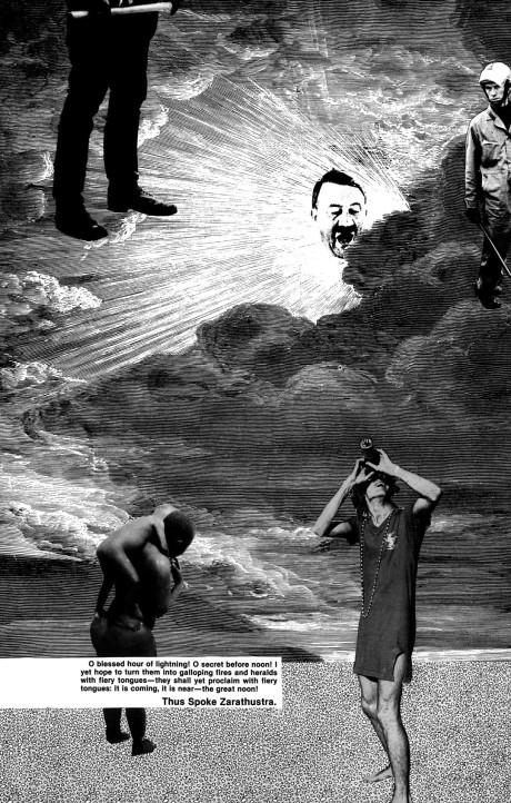 from a Nietzsche-influenced photo collage from Exit issue 2 by Adam Parfrey