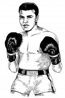 Muhammad Ali by Tony Millionaire