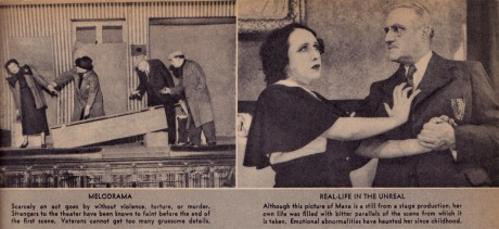 Stills from two Grand Guignol plays featuring Maxa.
